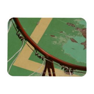 Deteriorating basketball hoop rectangular photo magnet