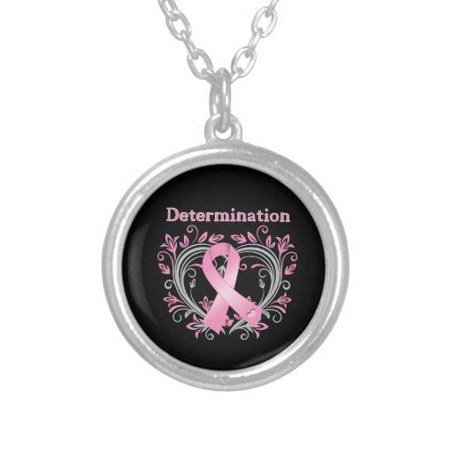 Determination Breast Cancer Awareness Ribbon Pendant