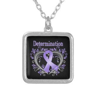 Determination Heart Ribbon Hodgkin's Lymphoma Pendant