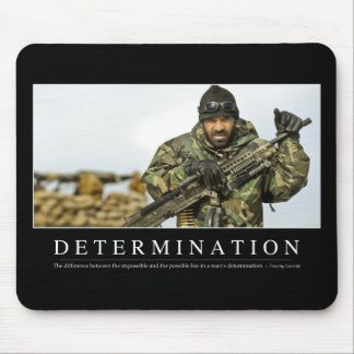 Determination: Inspirational Quote Mouse Pad