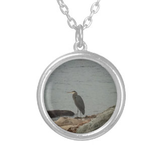 Determination of the Egrets Round Pendant Necklace