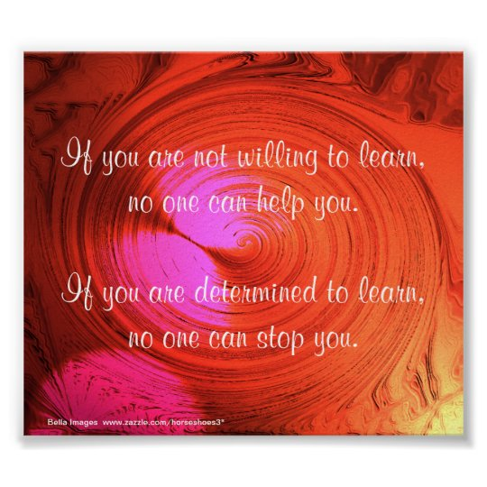 Persistence Motivational Quotes: Determination - Poster