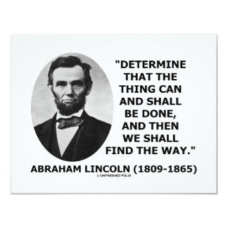 Determine The Thing Can And Shall Be Done 11 Cm X 14 Cm Invitation Card