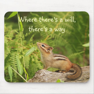 Determined Baby Chipmunk Mousepad