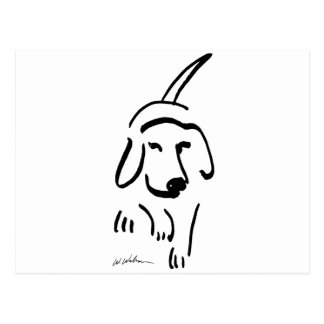 Determined Beagle Postcard