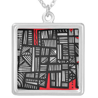 Determined Well Champion Quick Square Pendant Necklace
