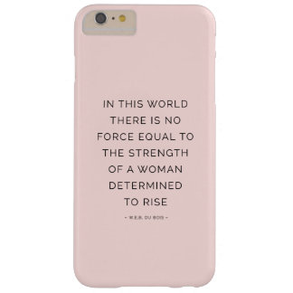 Determined Woman Inspirational Quote Pink Black Barely There iPhone 6 Plus Case