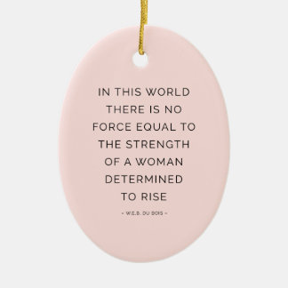Determined Woman Inspirational Quote Pink Black Christmas Ornament