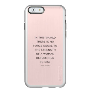 Determined Woman Inspirational Quote Pink Black Incipio Feather® Shine iPhone 6 Case