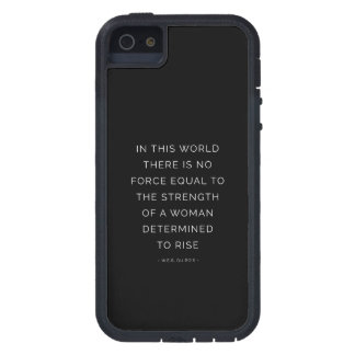 Determined Woman Inspiring Quote Black White iPhone 5 Covers