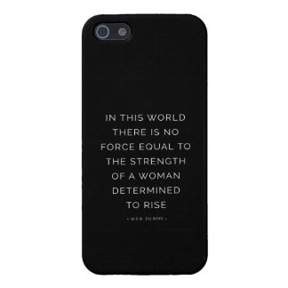 Determined Woman Inspiring Quote Black White iPhone 5/5S Covers