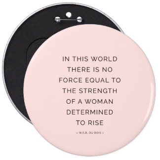 Determined Woman Inspiring Quotes Pink Black 6 Cm Round Badge
