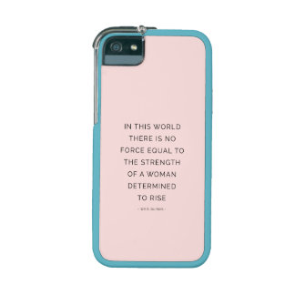 Determined Woman Inspiring Quotes Pink Black iPhone 5 Cover