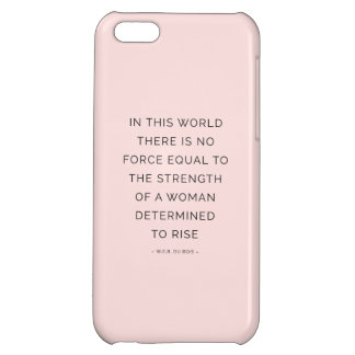 Determined Woman Inspiring Quotes Pink Black iPhone 5C Cover