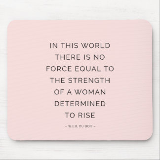 Determined Woman Inspiring Quotes Pink Black Mouse Mat