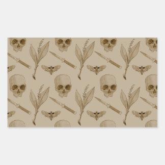 Deths Head pattern Rectangular Sticker