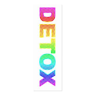 Detox Bookmark Pack Of Skinny Business Cards