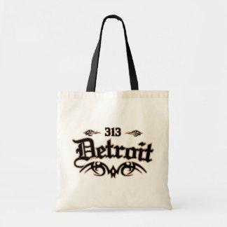 Detroit 313 budget tote bag