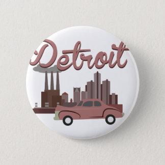 Detroit 6 Cm Round Badge