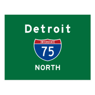 Detroit 75 postcard