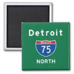 Detroit 75 square magnet