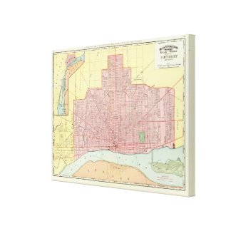 Detroit and Vicinity Canvas Print