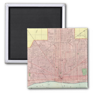 Detroit and Vicinity Square Magnet