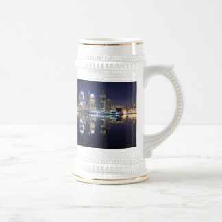 DETROIT AT NIGHT BEER STEIN
