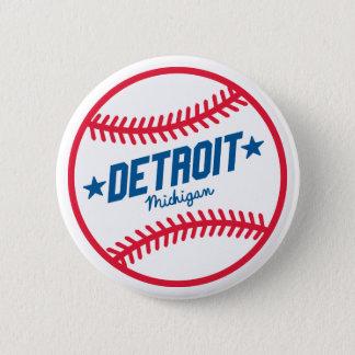 Detroit Baseball 6 Cm Round Badge