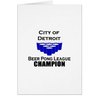 Detroit Beer Pong Champion Greeting Card