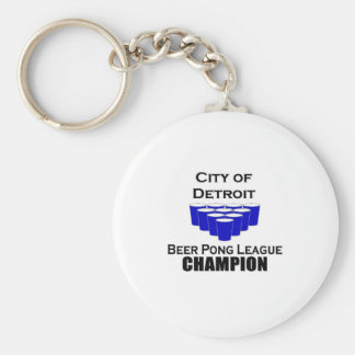 Detroit Beer Pong Champion Key Chains