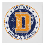 Detroit Born and Raised Poster
