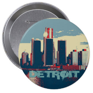 Detroit City Button