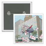 Detroit City Hall Funny 15 Cm Square Badge