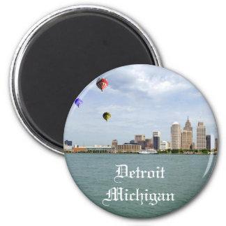 Detroit City Michigan 6 Cm Round Magnet