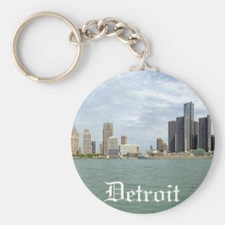 Detroit City Michigan Basic Round Button Key Ring
