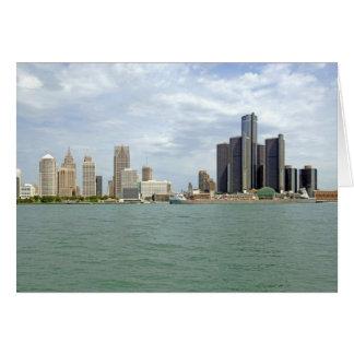 Detroit City Michigan Card