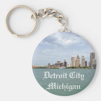 Detroit City Michigan Key Ring
