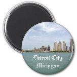 Detroit City Michigan Refrigerator Magnet