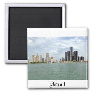 Detroit City Michigan Square Magnet
