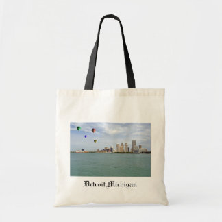 Detroit City Michigan Canvas Bag