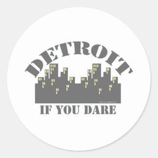 Detroit Dare Classic Round Sticker