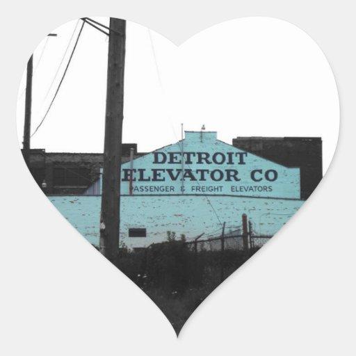 Detroit Downtown Heart Stickers