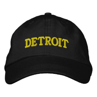 DETROIT EMBROIDERED BASEBALL CAPS