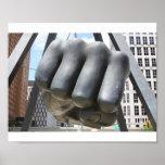 Detroit Fist Poster