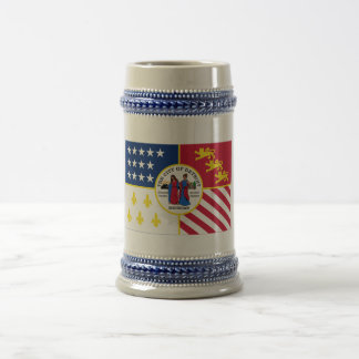 Detroit Flag Beer Stein