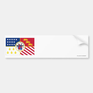 Detroit Flag Bumper Sticker