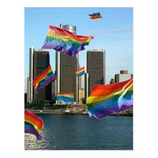 Detroit Flying Pride Postcard