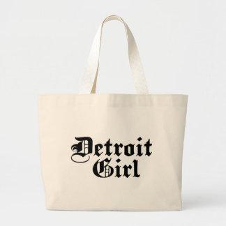 Detroit Girl Large Tote Bag
