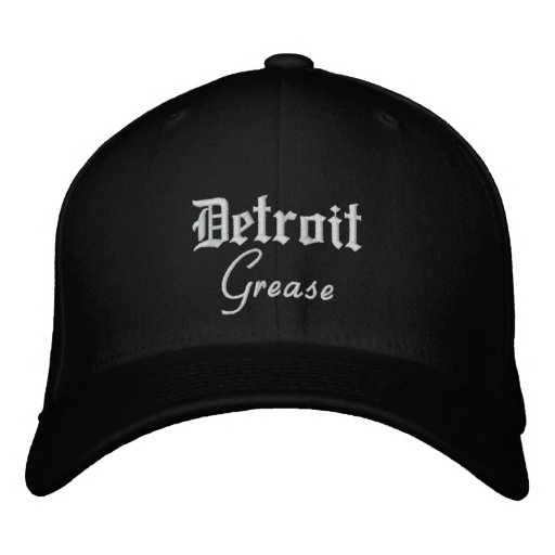 Detroit Grease Flex Fit Wool Baseball Cap Black